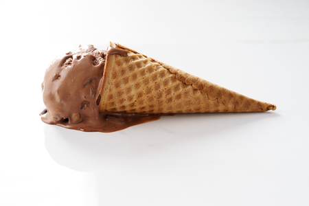 ice cream cone, chocolate flavor