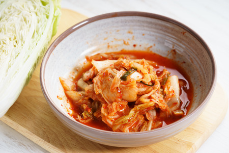 Kimchi in a bowl, Korean traditional food