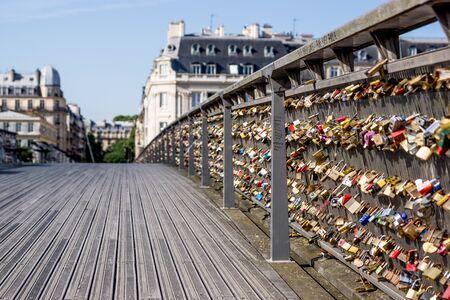 declaring: Love locks on Paris bridge Pont de Art