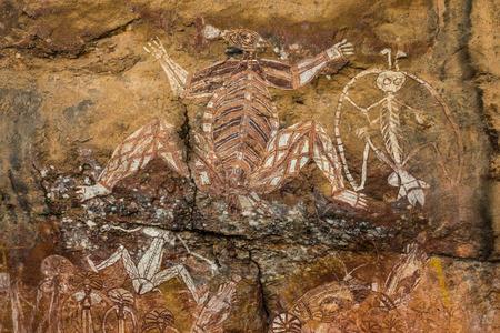 Aboriginal rock art at Kakadu, Australia