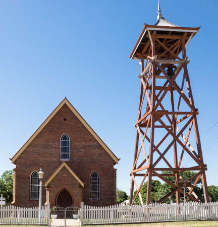 bell tower: Church and bell tower Charters Towers, Australia