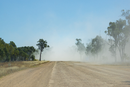 the outback: Dusty outback unsealed road Australia