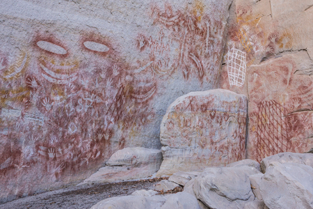 Aboriginal rock art at Carnarvon Gorge, Queensland, Australia Stock Photo