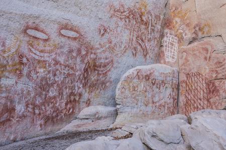 Aboriginal rock art at Carnarvon Gorge, Queensland, Australia Archivio Fotografico