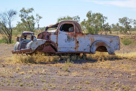 rusty car: Rusty old car in outback Queensland, Australia