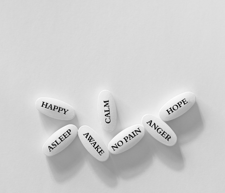 Group of pills or drugs to use for many emotions