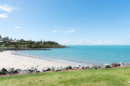 Protected tropical beach in Airlie Bay, Airlie Beach, Australia