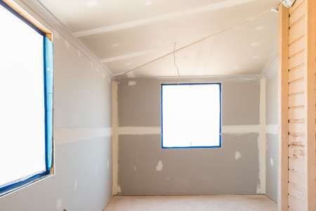 Renovations in old Queenslander style home with new plasterboard and windows