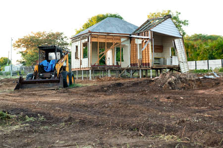 House being pulled down to clear the land for a new house