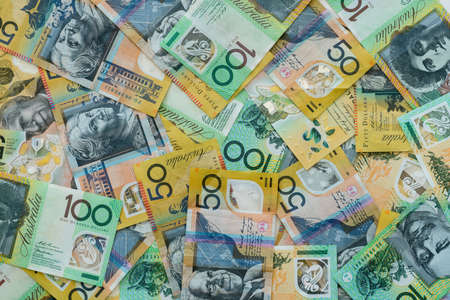 Background of Australian currency fifty and one hundred dollar notes