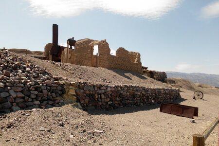 borax: Harmony Borax Works Death Valley Stock Photo