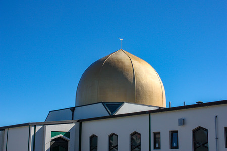 Christchurch, Canterbury, New Zealand, : Masjid Al Noor: the place of the March 15 2019 Christchurch Mosque Shootings 新闻类图片