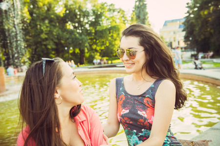 avocation: Smiling young women outdoors