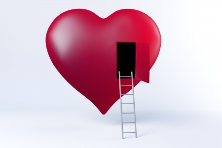 Ladder to your heart Banque d'images
