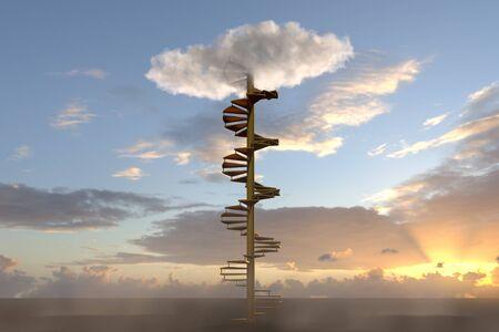 heaven: escalera al cielo  Foto de archivo