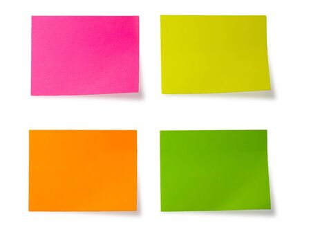 four stickers isolated on white