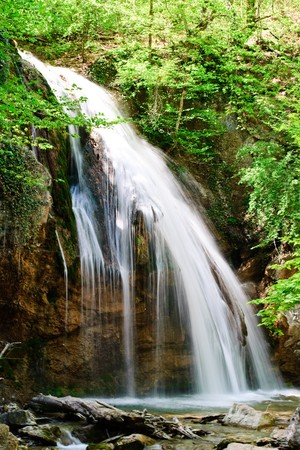 waterfall jur-jur in the Crimean moutains