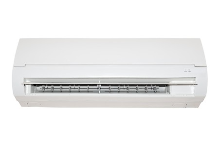 white air conditioner isolated on white background 版權商用圖片