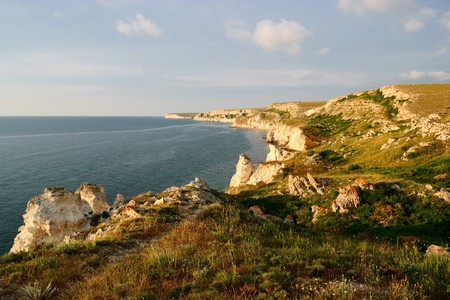 beautiful sea landscape of the black sea
