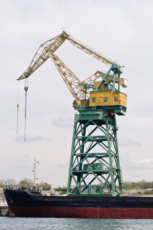 huge ship crane in the Sevastopol trade port