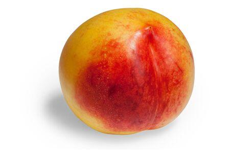 one nectarine fruit isolated on white background