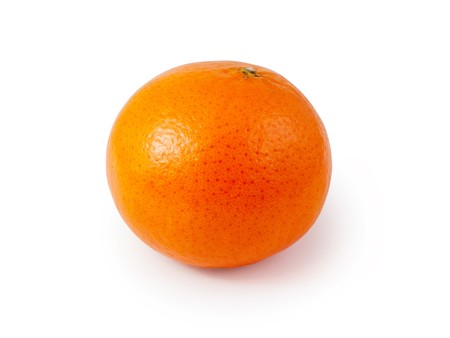 one mandarin isolated on a white background Stock Photo