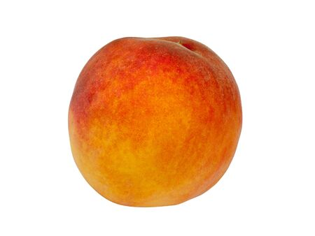 one peach isolated on a white background Stock Photo