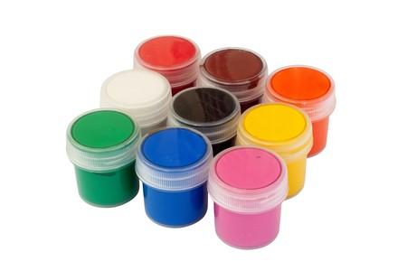guache: Cerrado jarras con gouache color