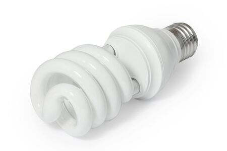 compact: Energy saving fluorescent light bulb (CFL).