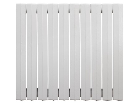 Cast iron radiator. Isolated on white background.