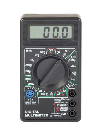 Digital multimeter. Isolated on white background with clipping path.  Stock Photo - 8445842