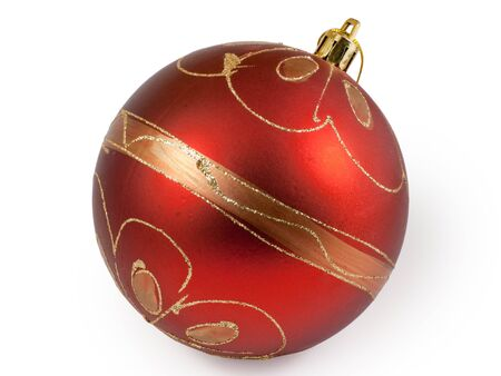 Big red christmas ball.