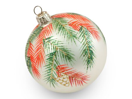 Christmas ball with branches.