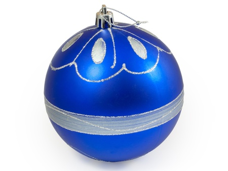 Big blue christmas ball.