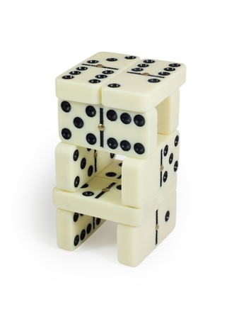 Domino tower Stock Photo