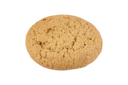 Oatmeal cookie. Isolated on the white background.  photo