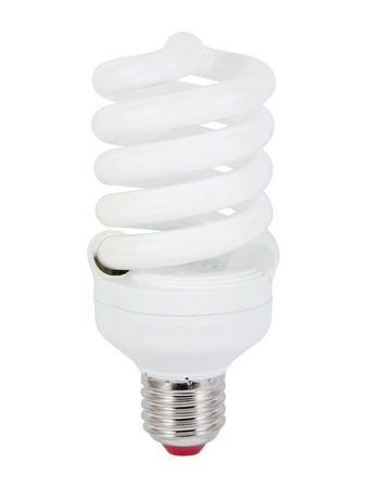 Energy saving fluorescent light bulb (CFL).  Stock Photo