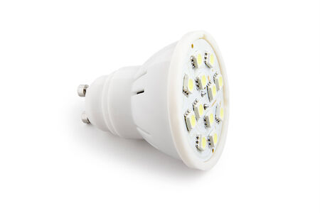 Energy saving LED light bulb (SMD). Isolated on white background with clipping path.