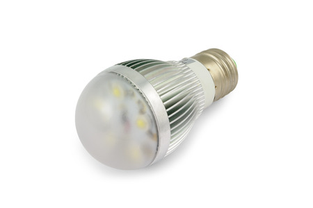 Energy saving High power LED light bulb E27. Stock Photo