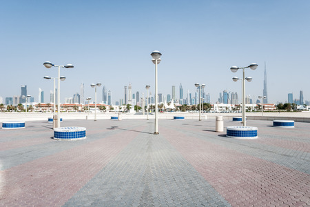 The Dubai Waterfront  View on the city