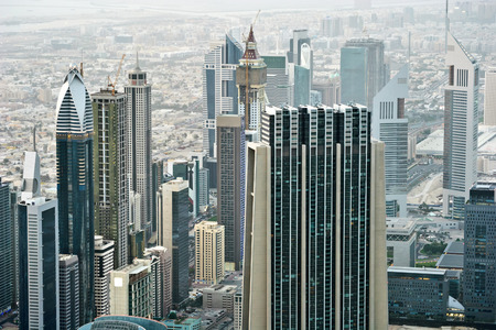 Dubai International Financial Centre  View from Dubai Stock Photo