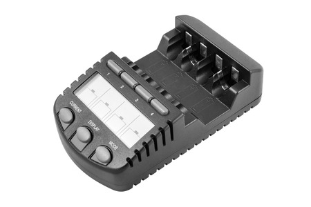 nimh: Intelligent Ni-MH battery charger. Isolated on white backgroungd with clipping path.