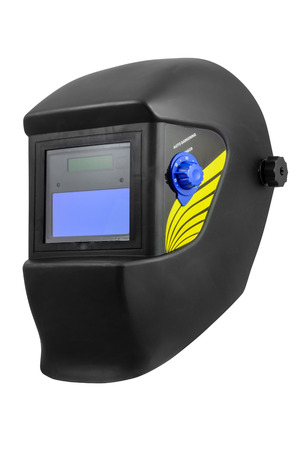 Automatic dimming welding mask. Isolated on white background with clipping path.