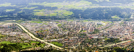Innsbruck panorama  Aerial view on the city