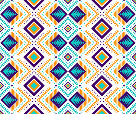 Aztec style seamless pattern with tribal ornament. Ornamental ethnic background collection. Can be used for fabric prints, surface textures, cloth design, wrapping. EPS 10 vector illustration. Illustration