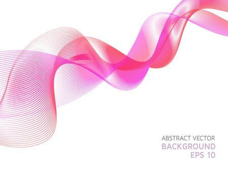 Futuristic wavy background of pink shades.