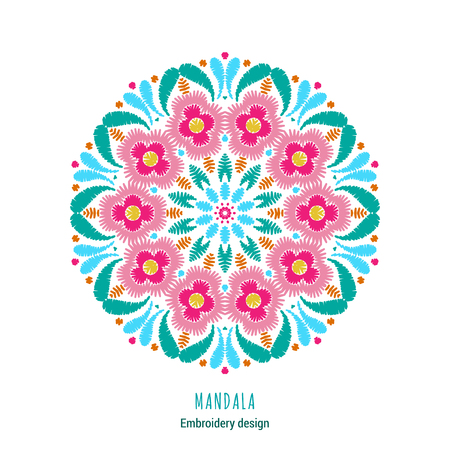 Embroidered mandala design icon.
