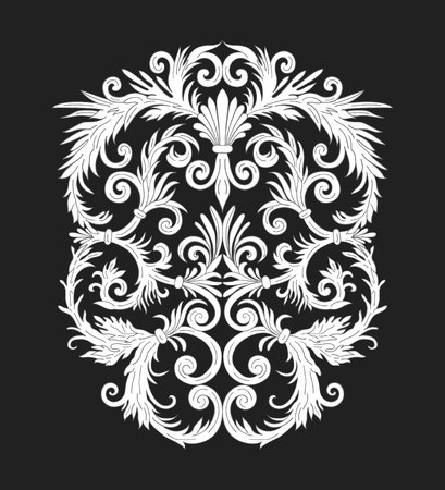 Baroque style ornament design. Retro ornamental background. Vintage decorative pattern. EPS 10 vector illustration.