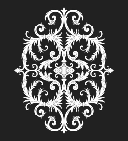 Baroque style ornament design. Retro ornamental background. Vintage decorative pattern. EPS 10 vector illustration.