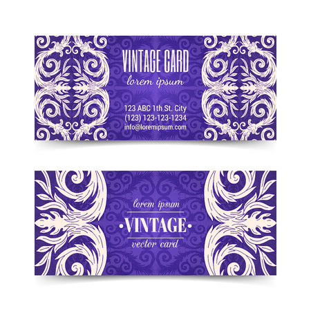 French baroque elegant ornate flyers. Luxurious ornamental banner design. Vintage fancy ornament decoration. Pathetic retro embellishment. Silky colorful background. Vector brochure template